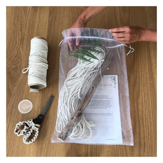 Macrame Kit Wall Hanging Diy Driftwood Cotton Rope