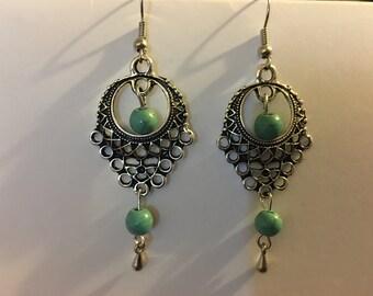 Turquoise gem stone earrings  R44