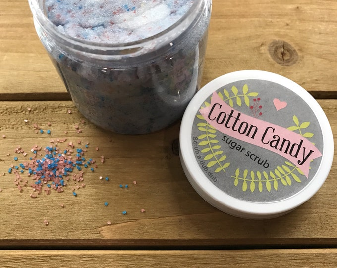 Homemade Cotton Candy Sugar Scrub: Lake Life Candle Co. & scrub.a.dub.dub. Made in WI
