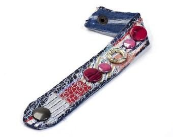 Fabric bracelet, Cuff Bracelet