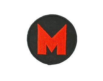 Orange M Vintage Patch