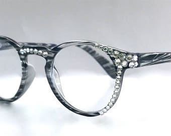 Reading Glasses made with Swarovski Crystals +3.00