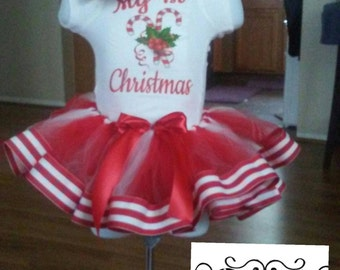 Christmas Tutu Set, 1st Christmas, Holiday, Tutu Set