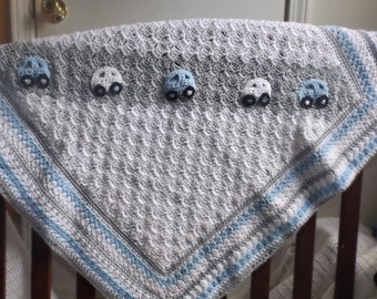Car Blanket, Crochet Baby Blanket, Baby Blanket, Photography Prop, Nursery Gift, Gift for Boys