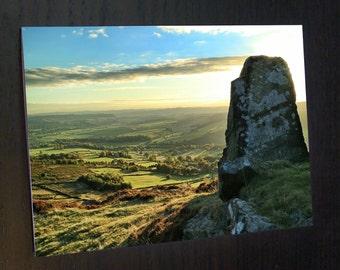 Stone at Curbar Edge - Peak District A6 Greeting Card