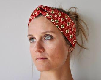 Headband P' little trickster Batik pink gold woman spring