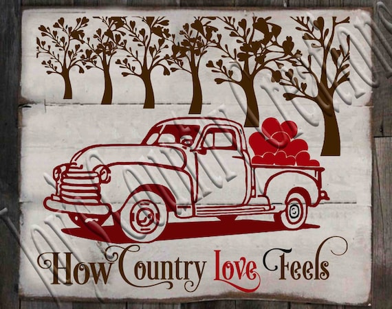 2307+ Country Love Svg for Silhouette