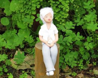 Otti the elf of clarity, elf art doll. Elf of clarity. Magic. Handmade. Art doll. Quartz. Fantasy. Ooak. Fairy. Healing.