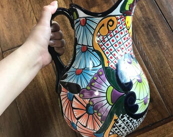 Talavera Pottery Water Pitcher