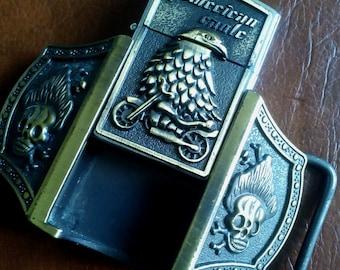 SALE Vintage Lighter USA Belt Buckle, Vintage Lighter Belt Buckle, Vintage Belt Lighter Buckle, USA Belt Buckle, Belt Buckle Lighter