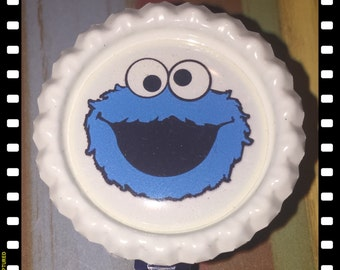 Retractable Cookies Monster Badge Pull Lanyard ID Reel