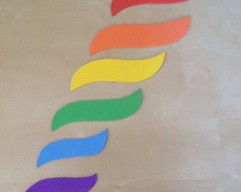Montessori Mobile Rainbow Ring Components