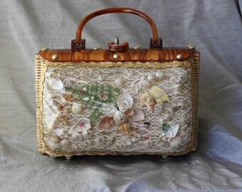 Vintage Princess Charming Seashell Design Handbag