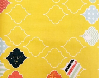 Yellow Patterned Fabric