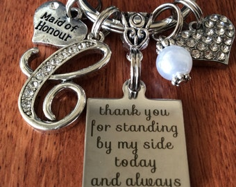 MAID Of HONOR Gift, Gifts For Maid Of Honor, Maid Of, Thank You For Standing By My Side, Maid Of Honor Keychain, Unique Maid Of Honor Gifts