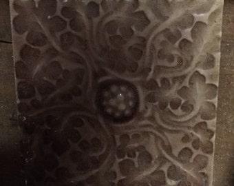 Plum antique ceramic tile