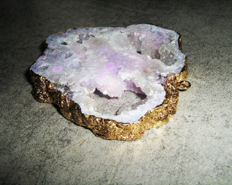 NATURAL Brazilian AMETHYST GEODE with veins of quartz