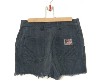 Vintage Soft Denim Shorts // Women Cut Offs // 1970s