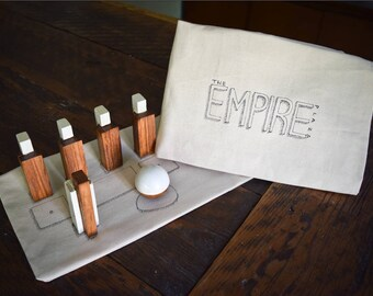 Empire State Plaza Mini Bowling Set - Albany, NY Souvenir - New York Tabletop Bowling Game - Unique Interactive Decor - Capital District