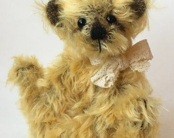 Mohair Artist Bear Antique Style by Chicago Bear Co: Buttercream Bo a Back to School friend