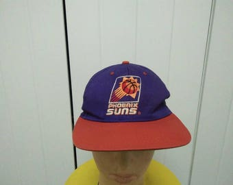 Rare Vintage PHOENIX SUNS Big Logo Embroidered Cap Hat Free size fit all