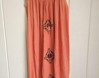Coral Crotchet Party Dress