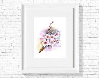 Cherry Blossom - Art Print / Inkjet Print / Handmade