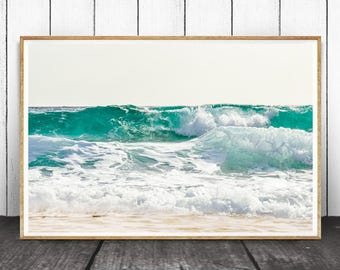 Coastal Print, Coastal Decor, Beach Decor, Ocean Wave Print, Beach Water Print, Ocean Water, Ocean Photography, Ocean Wall Art, Sea Print