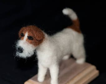 Needle Felted Jack Russell Terrier - One Of A Kind, Hand Made