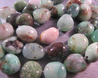 Australian Chrysoprase Nuggets Beads 22pcs