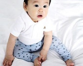 B L U T R I A N G L E S Baby Leggings Toddler Leggings Boy leggings Geometric Leggings Girl Leggings Blue leggings Baby Girl Baby Boy