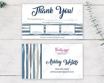 Thirty One Bag Tag - Brush Strokes (template)