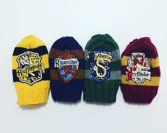 Hogwart's House Beanies with house crest patch