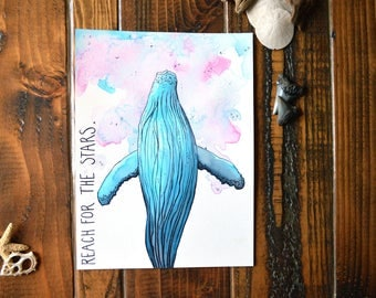 Reach for the Stars - Watercolor Painting