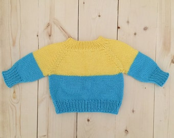 Hand Knit Toddler Sweater //Toddler Sweater // Knitted Sweater // Toddlers // 1 - 2 years old // Hand Knit // Ready to Ship