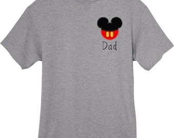 Adult Mr & Miss Mouse Tee EMBROIDERED