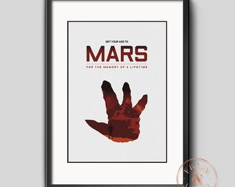 Total Recall - Get Your Ass to Mars Travel Poster