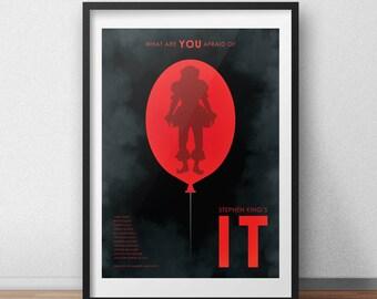 Stephen King's IT Movie 2017 - Alternative Movie Poster - Horror Film Poster - Wall Art - Geek Poster
