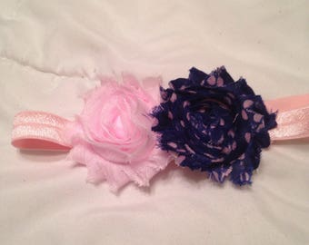 Pink and navy headband