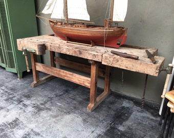 Belgium Wooden Workbench Offset Base
