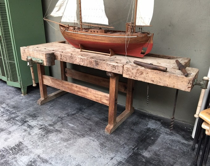 Belgium Wooden Workbench Offset Base