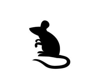 Pack of 3 Mouse Stencils Made from 4 Ply Mat Board, 11x14, 8x10 and 5x7