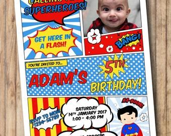 SUPERMAN Invitation * Superman Party * Superman Printable Birthday Invitation * Superhero Birthday Party