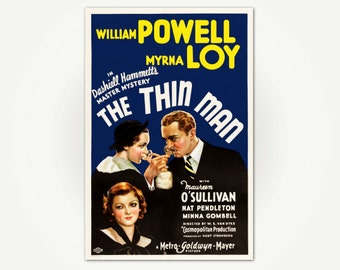 Thin Man Movie Poster Print - Classic Hollywood Movie Poster Art
