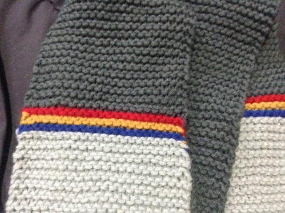Wesley Crusher Star Trek TNG Uniform Scarf - Hand-Knit Acting Ensign Crusher Scarf