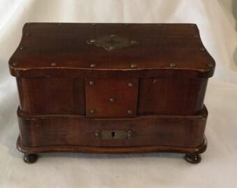 Antique Mahogany Jewelry Box
