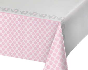 Little Peanut Pink Elephant TABLECOVER Baby Shower Party Supplies Buffet Tableware Tablecloth