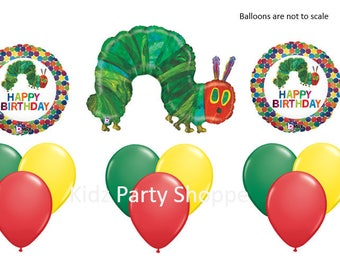 The Very Hungry CATERPILLAR BALLOON SET Birthday Party Supplies Decorations Centerpiece Photo Prop