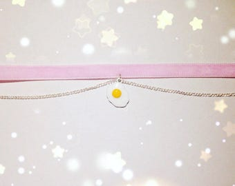Kawaii Egg Collar/Choker, Fairy Kei, Pastel Kei, Sweet Lolita, Harajuku etc inspired