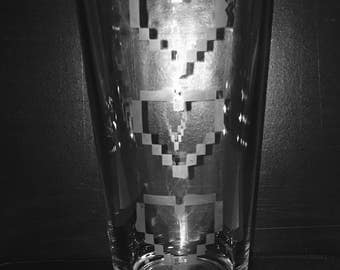 The Legend of Zelda Heart Containers pint glass Link Nintendo NES